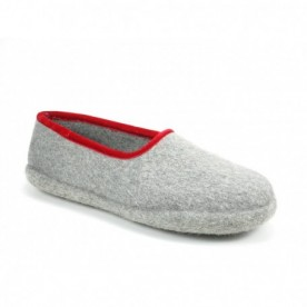 Haunold Pantofole Grigio Rosso